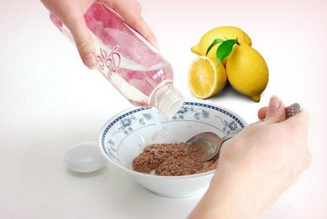 limon ve gülsuyu maskesi